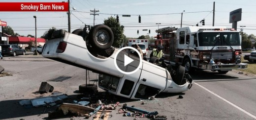 overturned truck in springfield video slider
