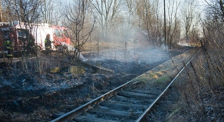Firefighters Battle Grass Fires In Greenbrier Along R-R Tracks