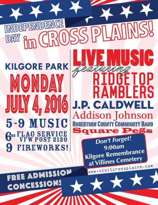 Cross Plains 2016 july 4th flyer a