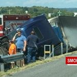 ​I65 South At ​Long Hollow Pike Slow After ​ Tractor Trailer Overturns
