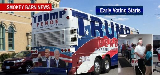 Trump Bus Shows Up As Early Voting Begins