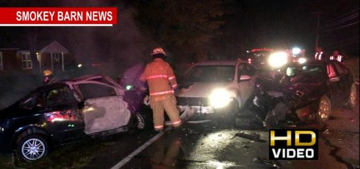 2 Hospitalized Following Four Car Fiery Crash On Hwy 49
