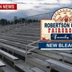 Robertson County Fairgrounds Get New Bleachers