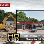 Old Springfield Landmark Comes Down (Time Lapse - Gone In 60 Seconds)