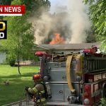 Firefighters Battle Intense Home Fire Near Springfield