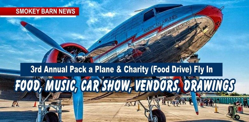 3rd Annual Pack a Plane & Charity Fly In & Car Show and Shine